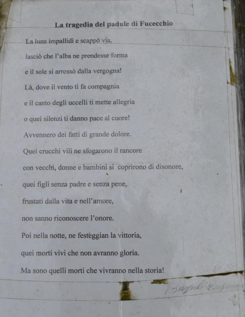 Poesia all'entrata del Giardino della Meditazione