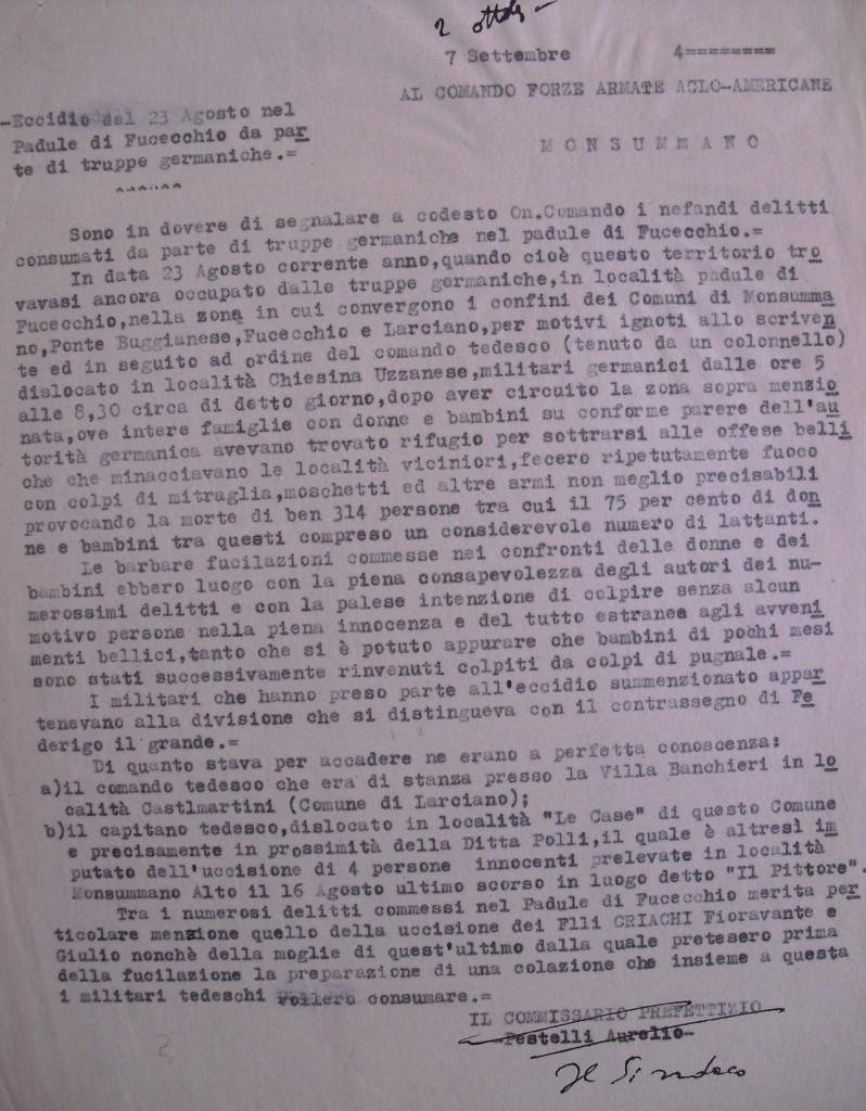 Documento tratto dall'archivio comunale di Monsummano
